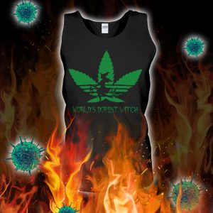 Adidas weed world's dopest witch tank top