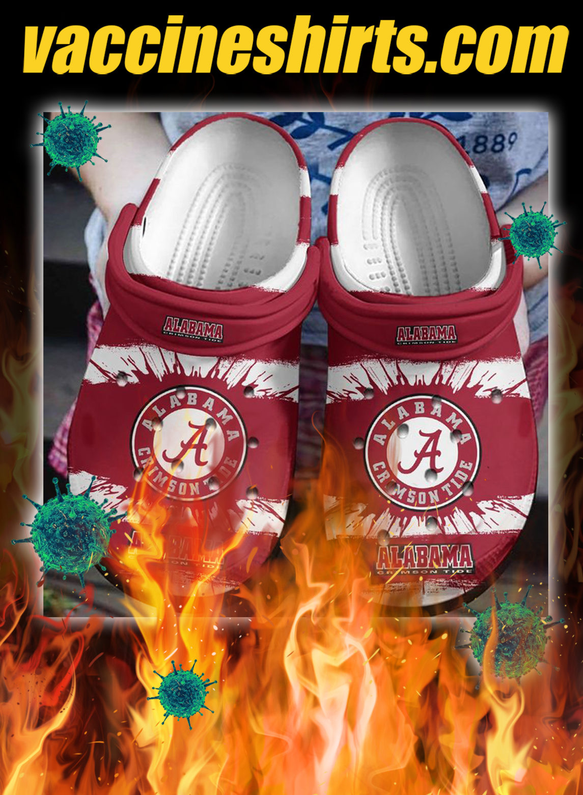 Alabama crimson tide crocband crocs shoes- pic 1