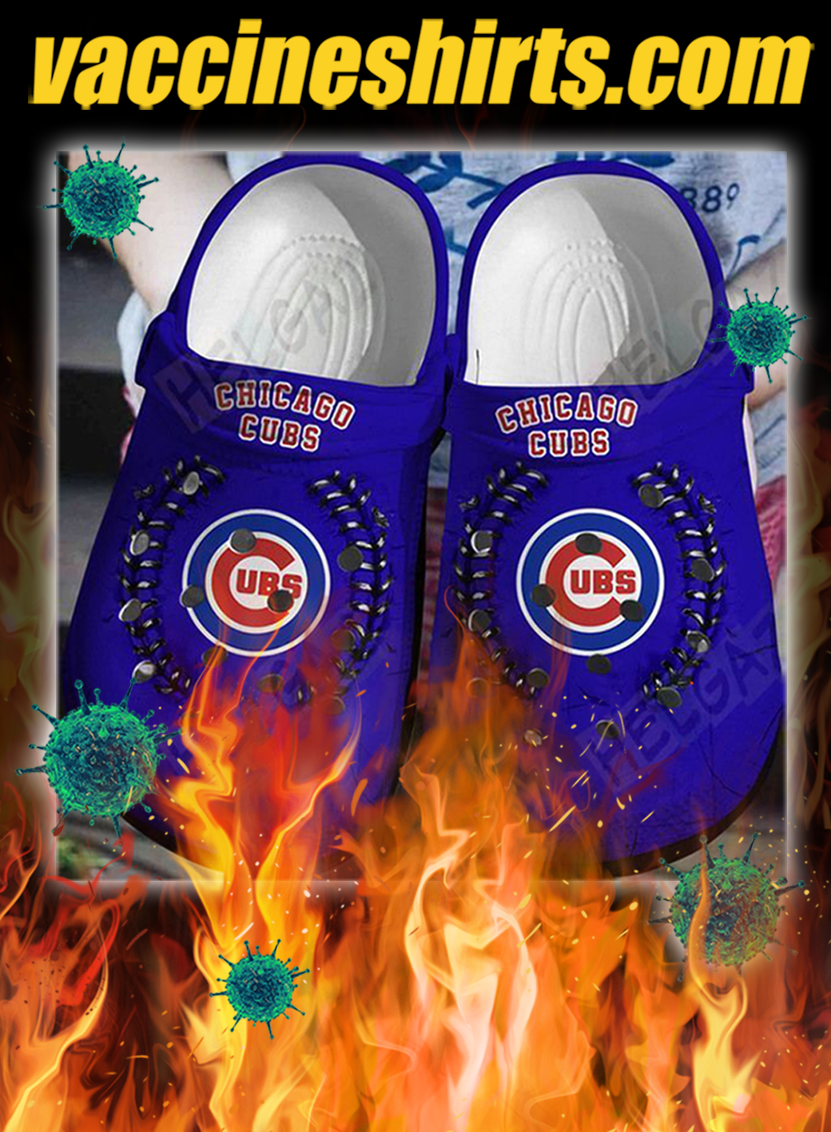 Chicago cubs crocband crocs shoes- pic 1