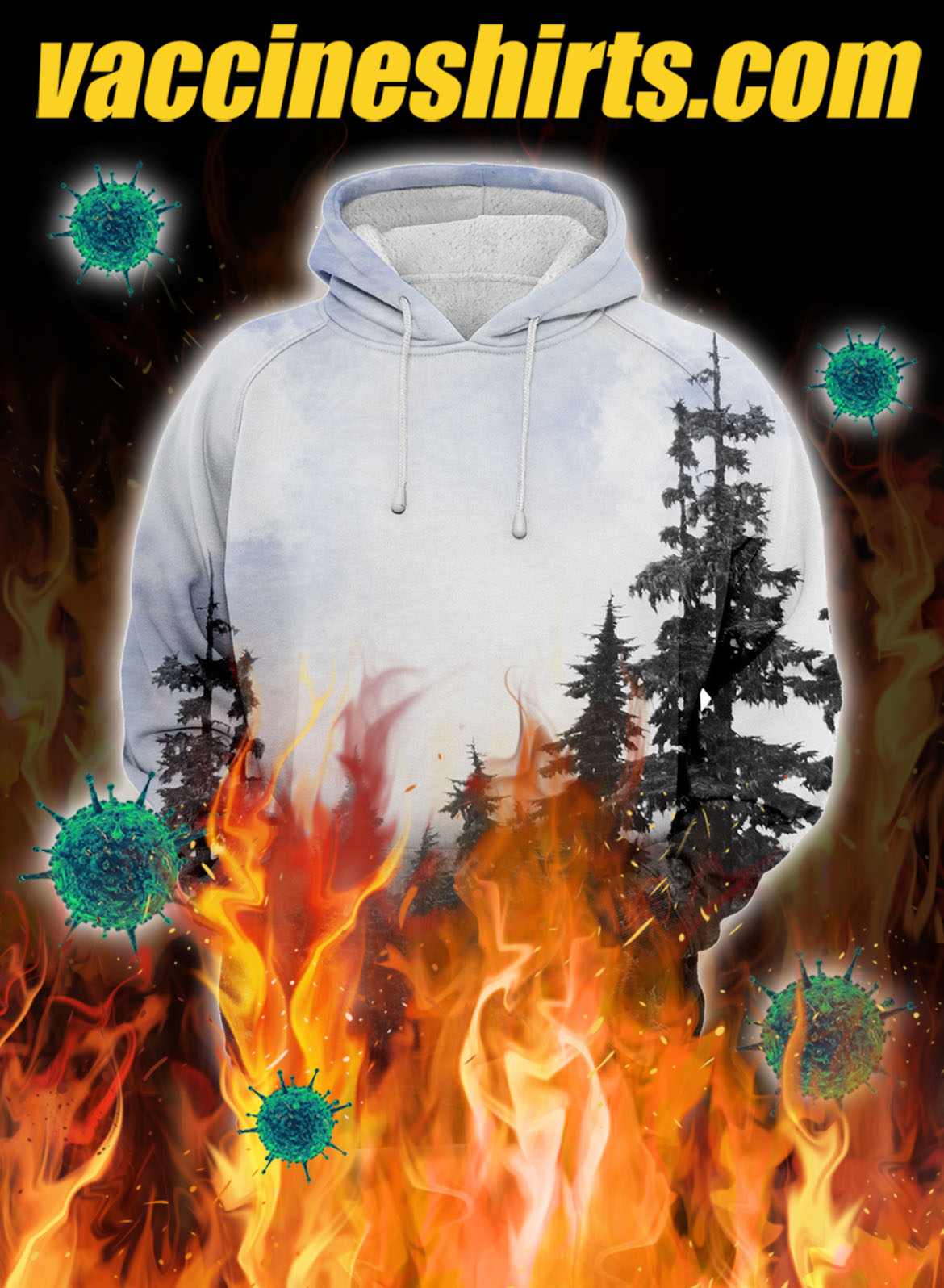Chilly morning unisex 3d hoodie - M