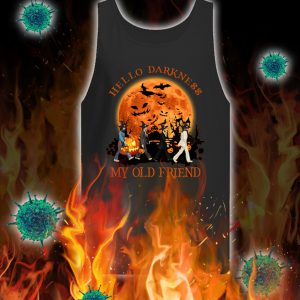 Halloween the beatles hello darkness my old friend tank top