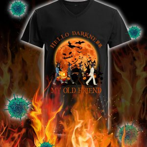 Halloween the beatles hello darkness my old friend v-neck