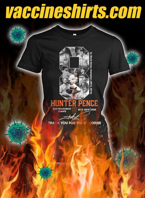Hunter pence thank you for the memories lady shirt