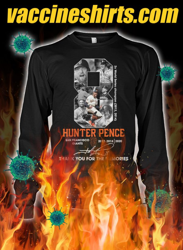 Hunter pence thank you for the memories longsleeve tee
