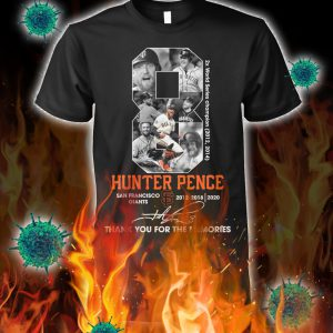 Hunter pence thank you for the memories shirt