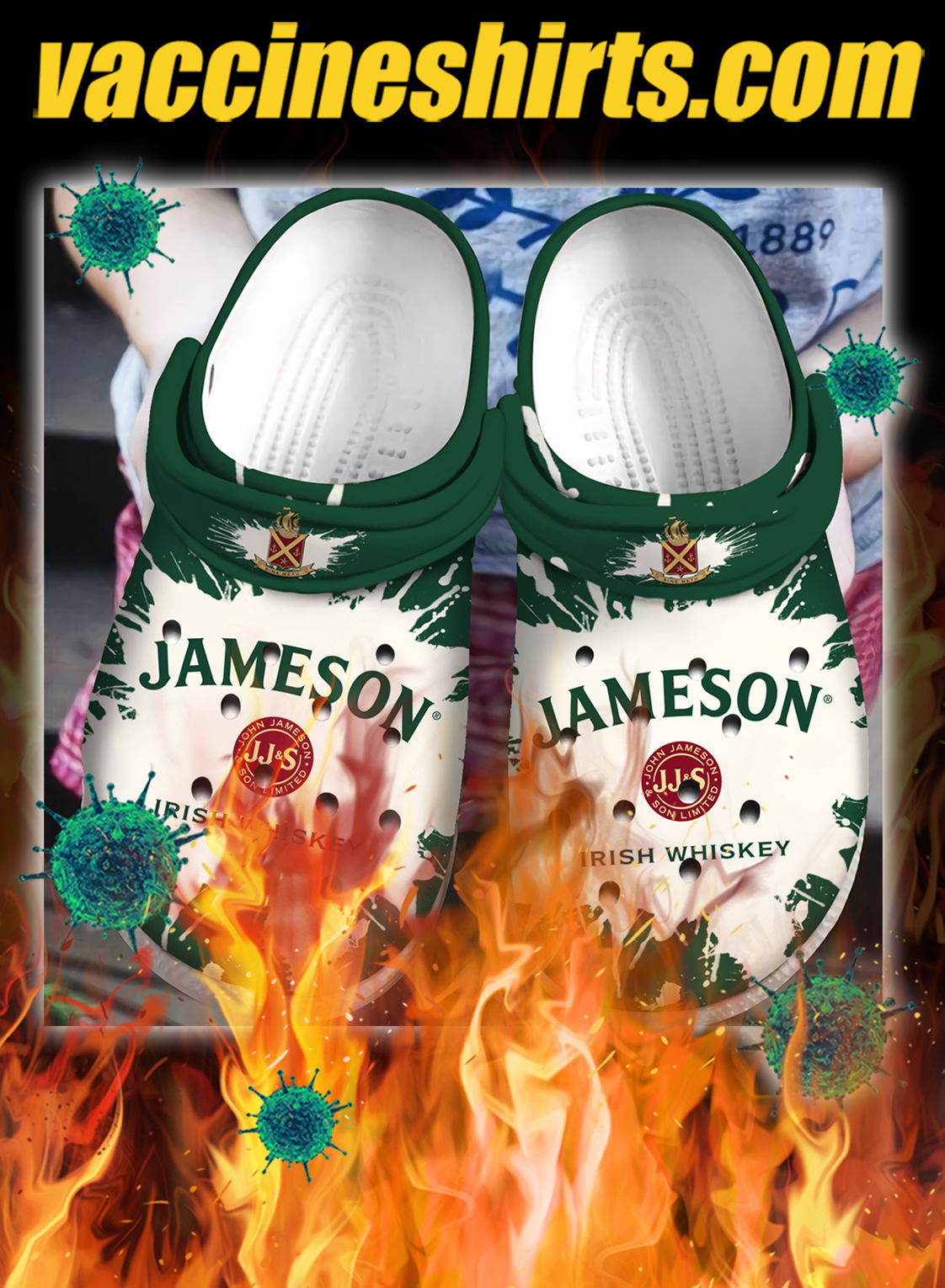 Jameson irish whiskey crocs crocband clog - pic 1