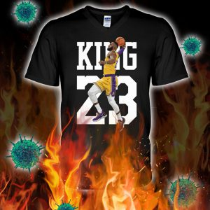 Lebron james king 23 v-neck
