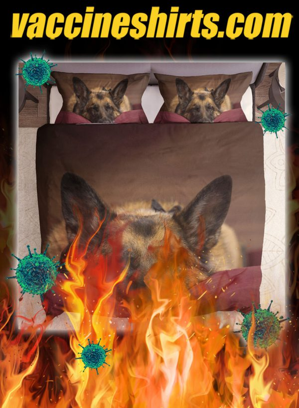 Lovely german shepherd bedding set