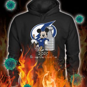 Mickey tampa bay lightning standley cup champion hoodie