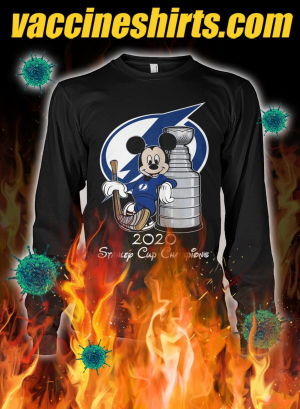 Mickey tampa bay lightning standley cup champion longsleeve tee