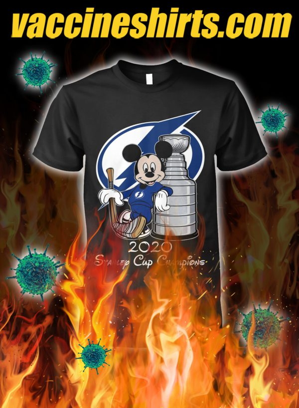 Mickey tampa bay lightning standley cup champion shirt