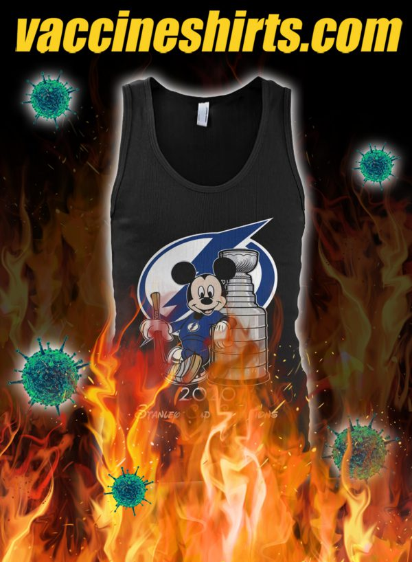 Mickey tampa bay lightning standley cup champion tank top