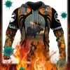 Moose hunting hunter camo 3d all over printed hoodie