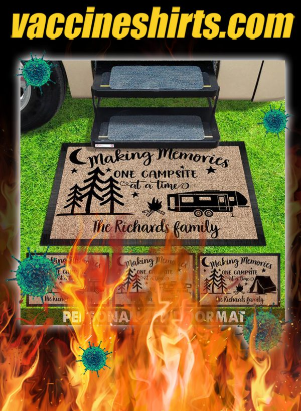 Personalized Making memories one campsite at a time doormat