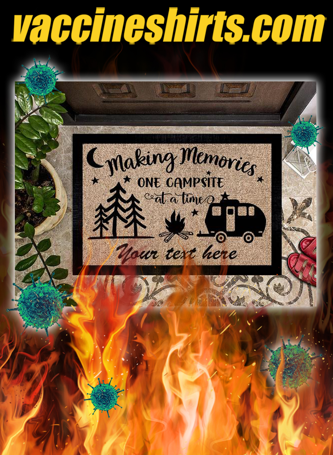 Personalized Making memories one campsite at a time doormat- pic 1