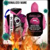 Personalized name sugar skull october girl 3d all over printed hoodie