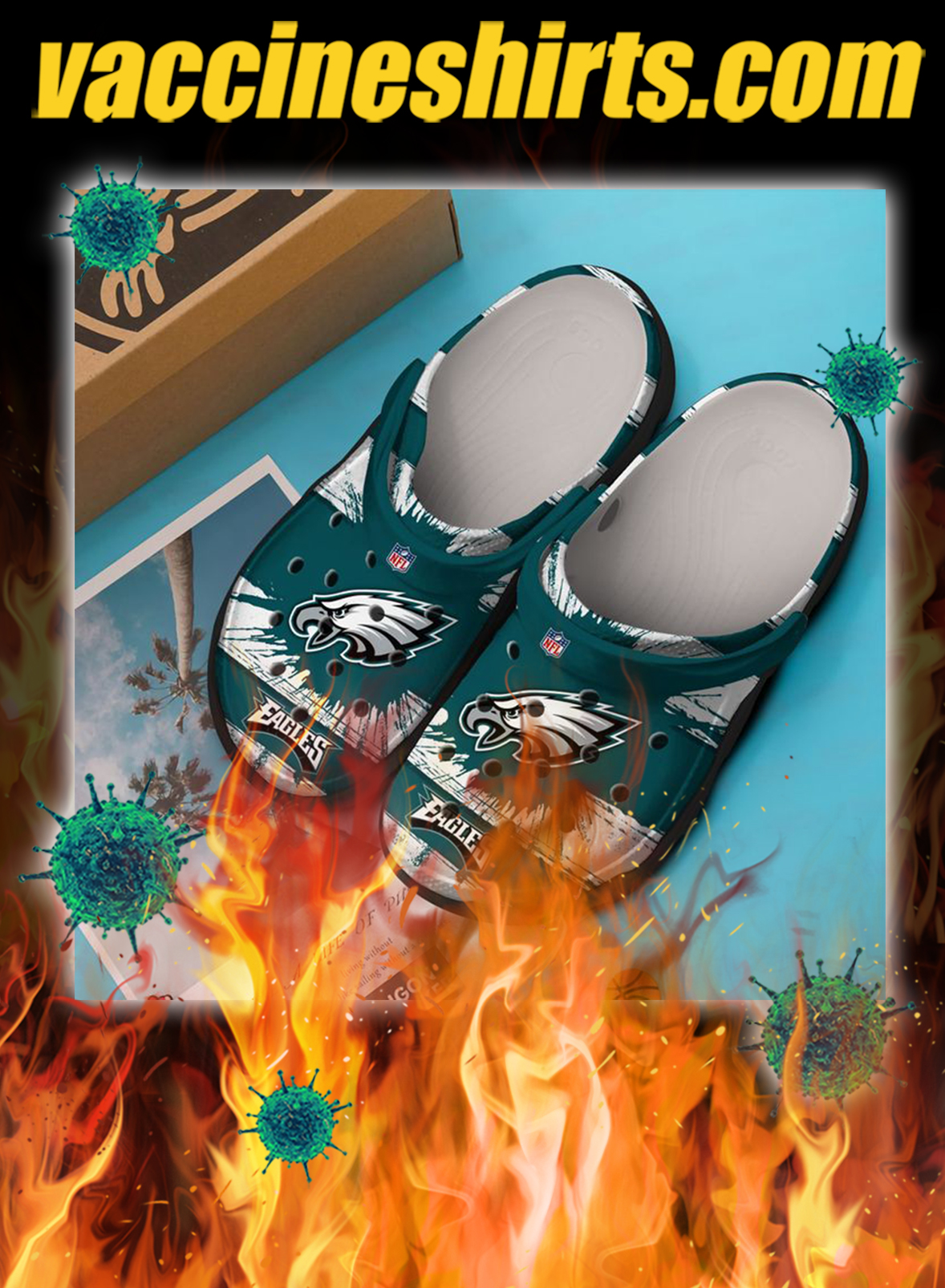 Philadelphia eagles crocs crocband clog - pic 1