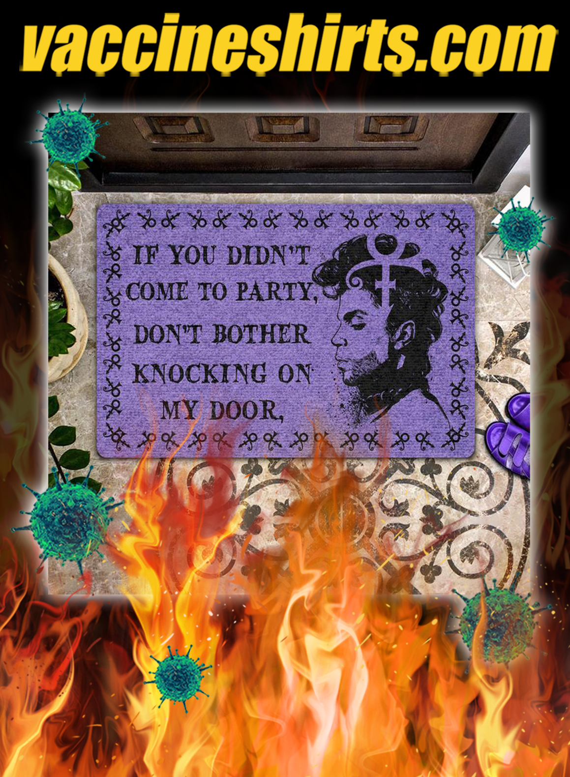Prince If you didn't come to party don't bother knocking on my door doormat - pic 1