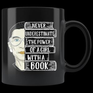 Ruth bader a girl with a book mug