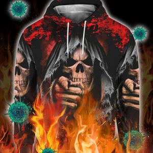 Skull i'm not the hero you wanted i'm the monster you needed 3d all over print hoodie