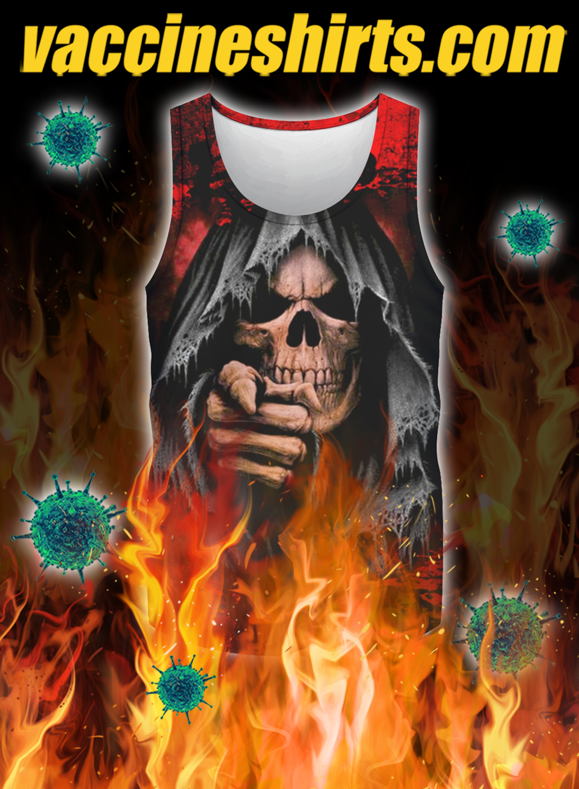 Skull i'm not the hero you wanted i'm the monster you needed 3d all over print tank top