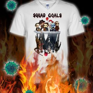 Squad goals horror killer reflection v-neck