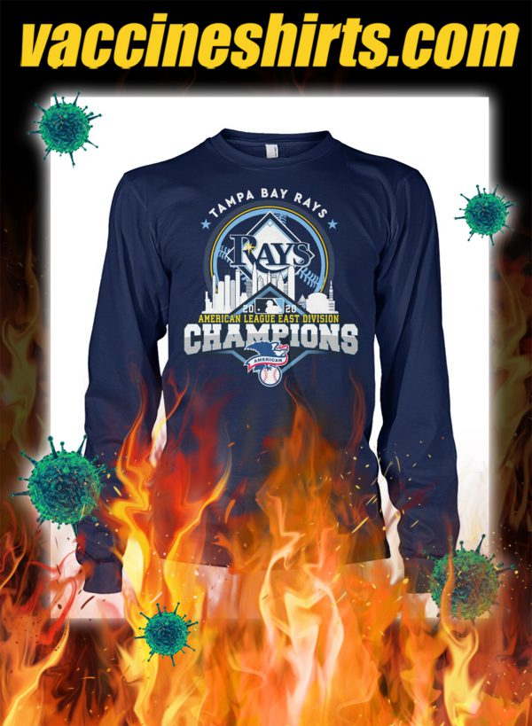 Tampa bay rays american league east division champions longsleeve tee