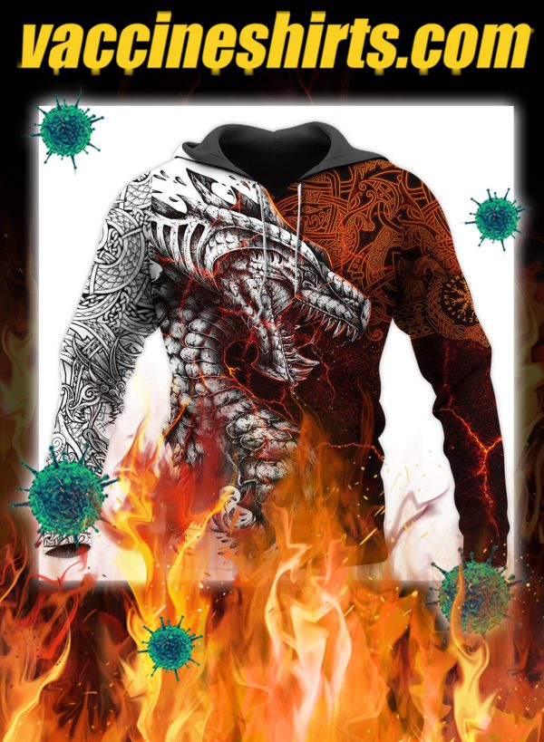 Tattoo dragon 3d all over printed hoodie