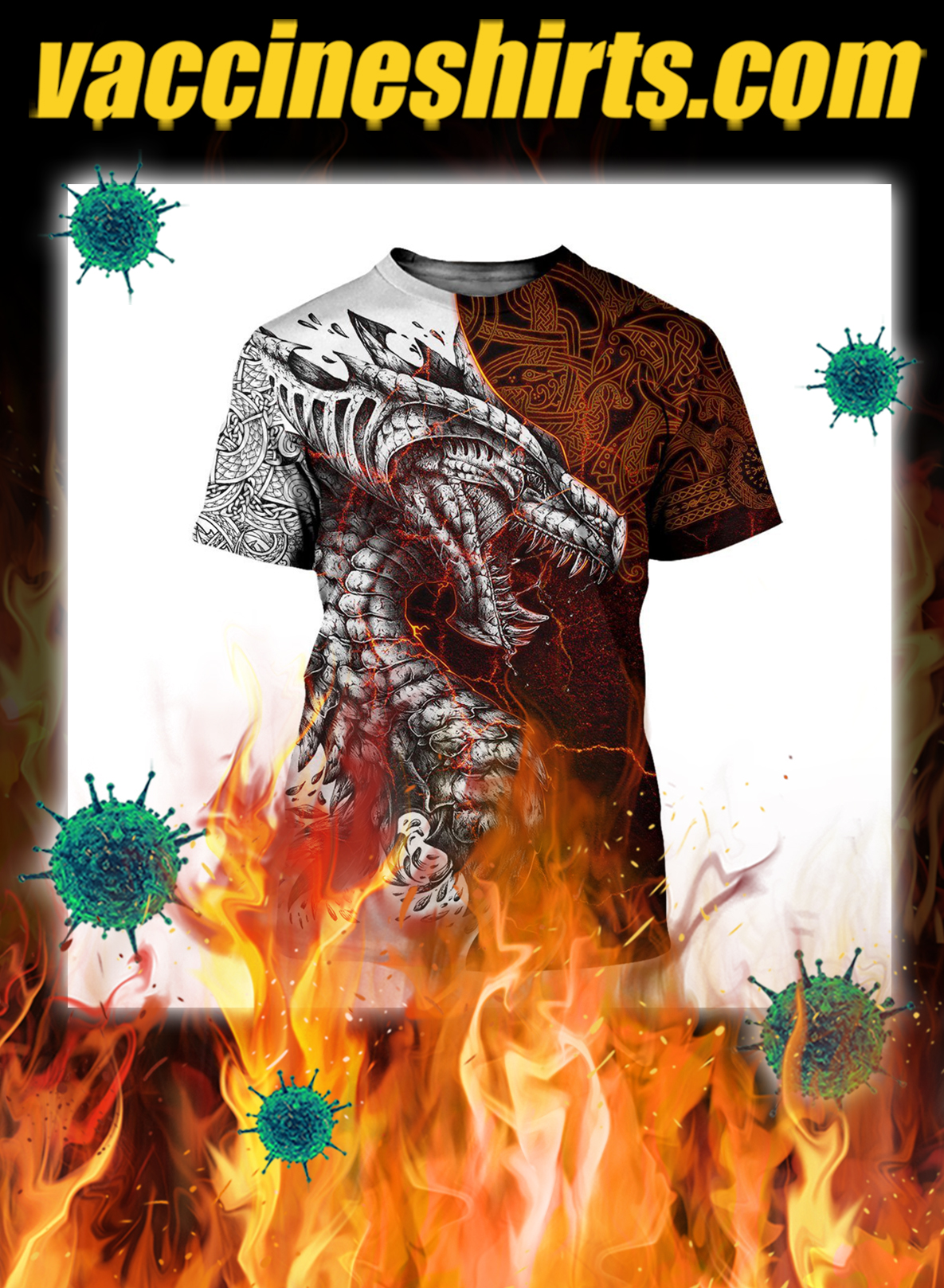 Tattoo dragon 3d all over printed shirt