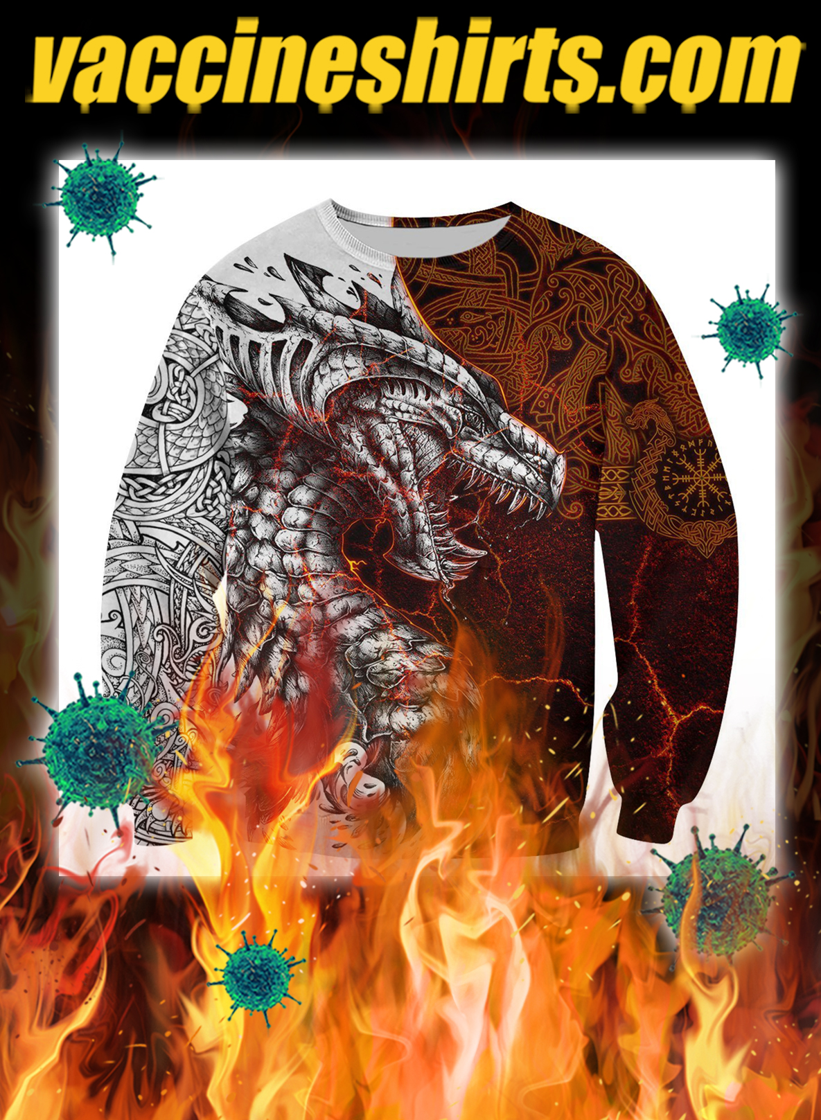Tattoo dragon 3d all over printed sweatshirt