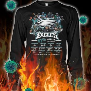 The eagles 87th years of 1933 2020 thank you for the memories longsleeve tee
