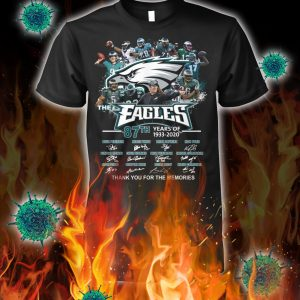 The eagles 87th years of 1933 2020 thank you for the memories shirt