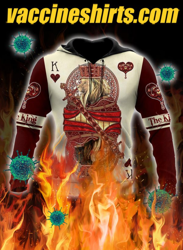 The king club lion poker over printed 3d hoodie