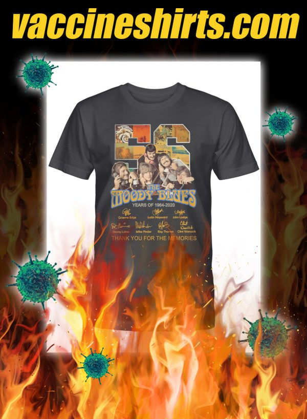 The moody blues thank you for the memories signature shirt