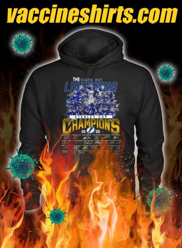 The tampa bay lightning stanley cup champions signature hoodie