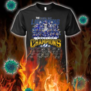 The tampa bay lightning stanley cup champions signature shirt
