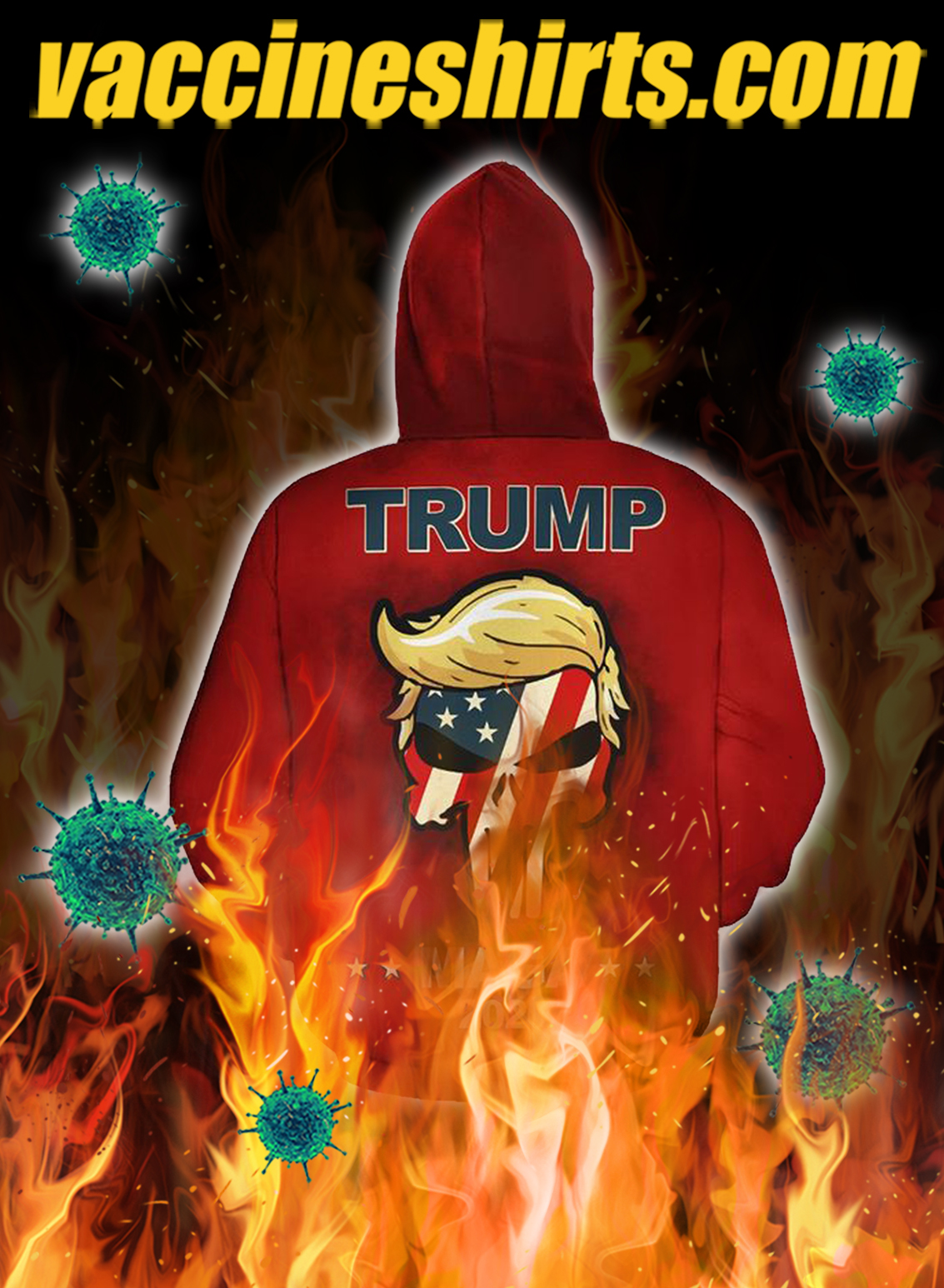Trump mage we the people all aboard the trump train 3d all over hoodie- back
