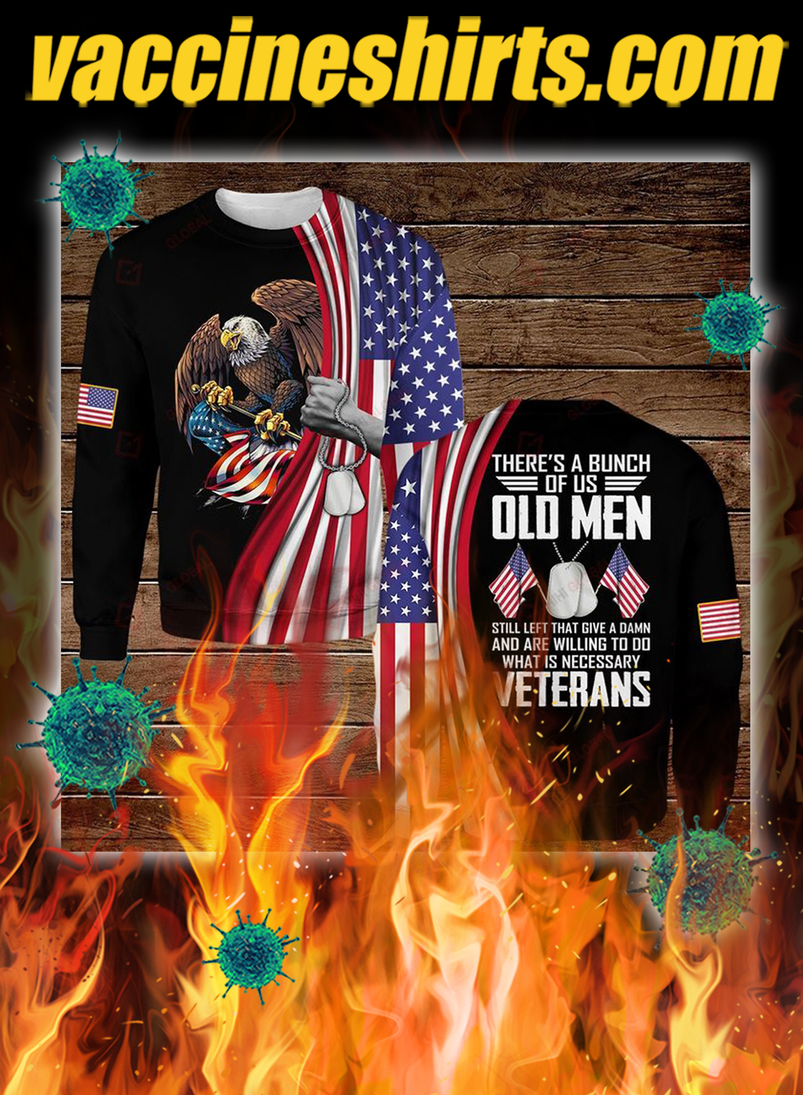 Veterans there's a bunch of us old men all over printed 3d sweatshirt