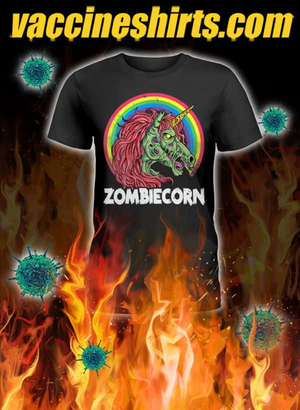 Zoombiecorn zoombie unicorn lady shirt