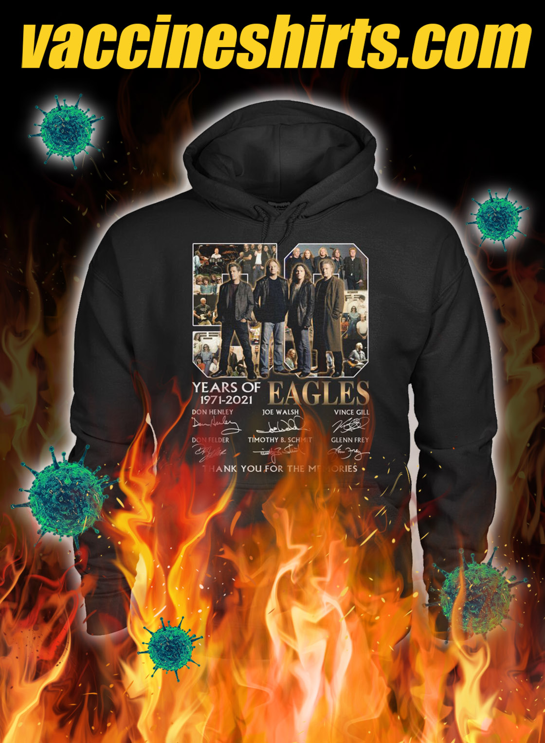 50 years of eagles thank you for the memories signature hoodie