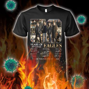 50 years of eagles thank you for the memories signature shirt