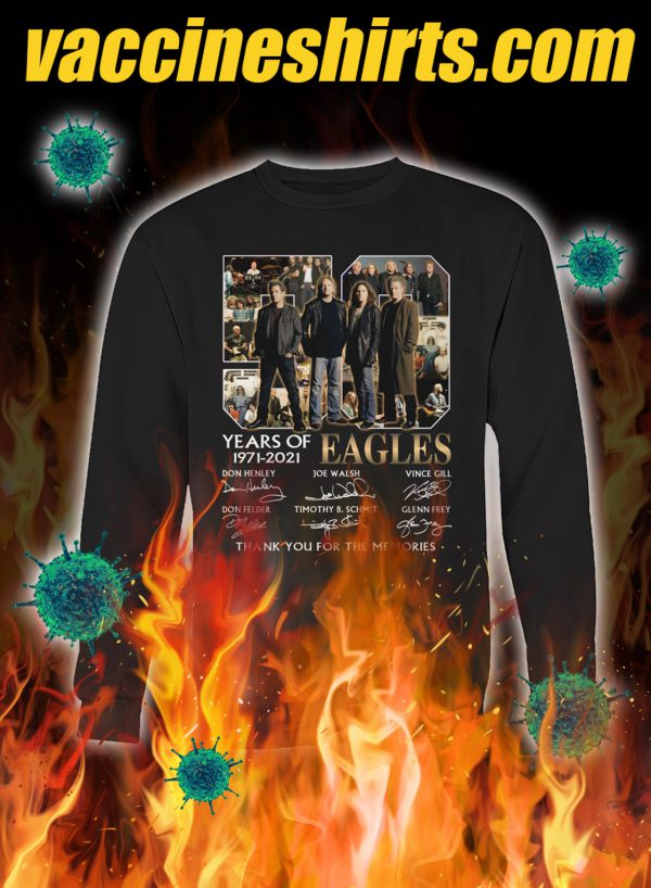 50 years of eagles thank you for the memories signature sweatshirt