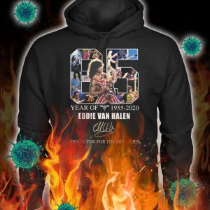 65 year of eddie van halen thank you for the memories hoodie