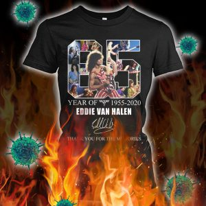 65 year of eddie van halen thank you for the memories lady shirt