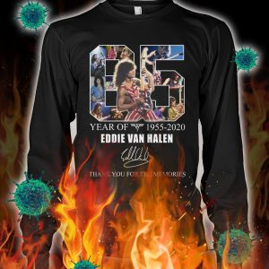 65 year of eddie van halen thank you for the memories longsleeve tee