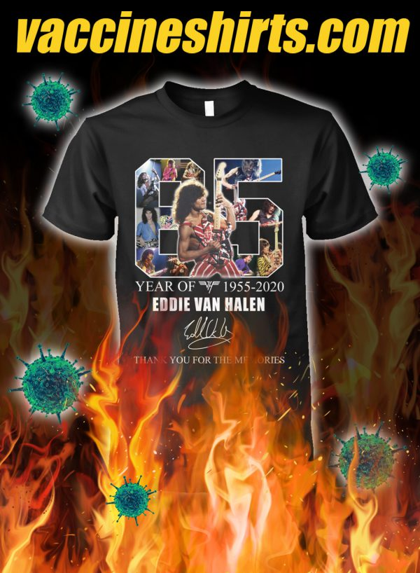 65 year of eddie van halen thank you for the memories shirt