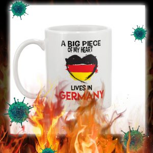 A big piece of my heart lives in germany mug- pic 1