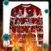 Afghan Hound snow christmas ugly sweater