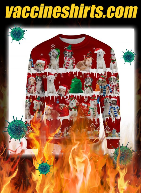 Aidi Dog snow christmas ugly sweater