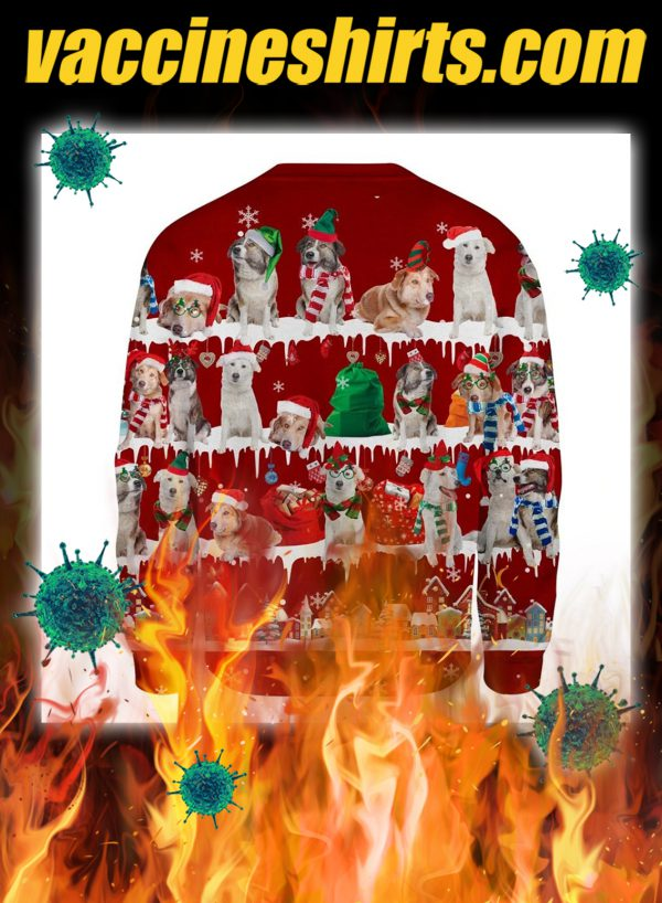 Aidi Dog snow christmas ugly sweater- pic 2